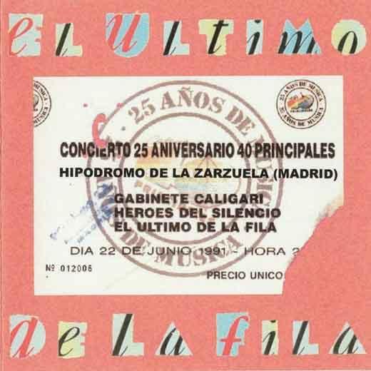 Vídeo del concierto completo de El Último de la Fila en el 25 Aniversario 40 Principales 1991