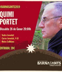 Quimi Portet, sábado 26 en Teatre Joventut (Hospitalet del Llob)