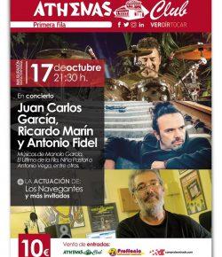 Jueves 17/10 en Athenas Club Cartagena: Ricardo Marín, Antonio Fidel y Juan Carlos García!!!
