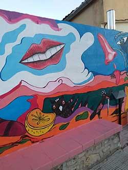 Mural donado por Manolo García al pueblo de Férez (Albacete)
