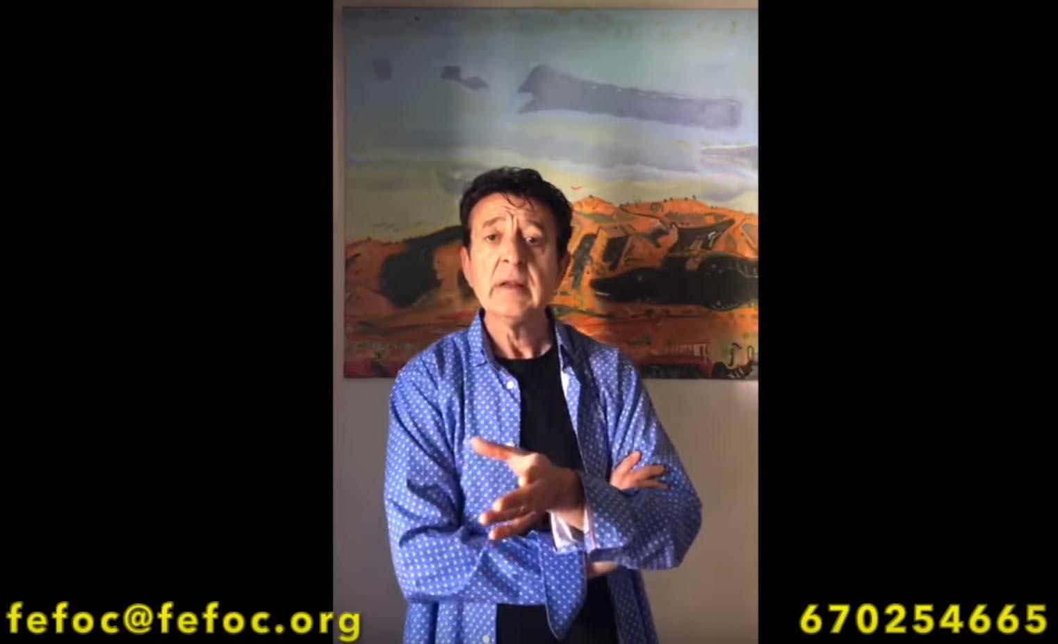 Mensaje de Manolo García en apoyo a FEFOC
